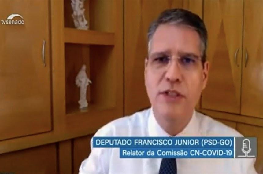 O deputado federal Francisco Junior foi o responsável pela elaboração do relatório