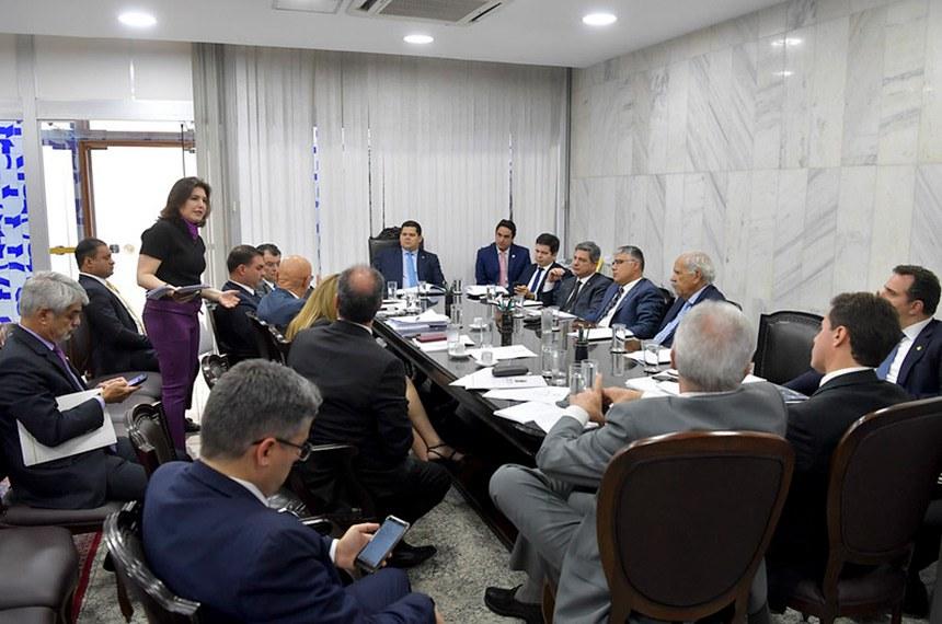 Reuniões da Mesa são realizadas na Presidência do Senado