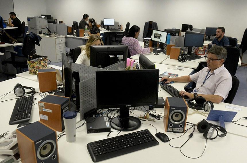Instalações da Rádio Senado após reforma.  Foto: Roque de Sá/Agência Senado