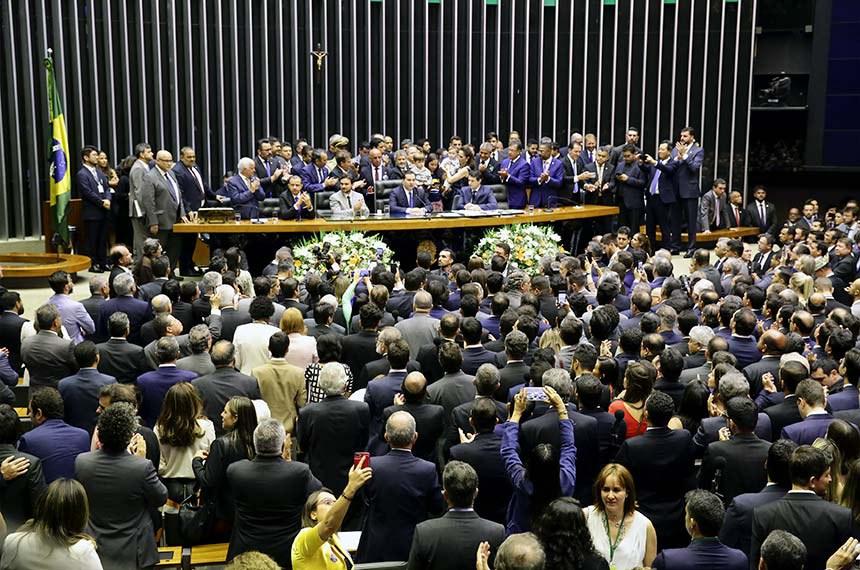 01/02/2019 - Eleição para presidente e demais cargos da Mesa Diretora da Câmara  Dep. Rodrigo Maia (DEM-RJ) presidente da câmara eleito  Foto: Luis Macedo/Câmara dos Deputados