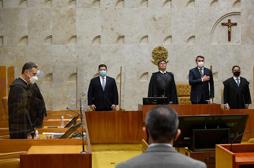 Plenário do STF durante abertura do Ano no Judiciário