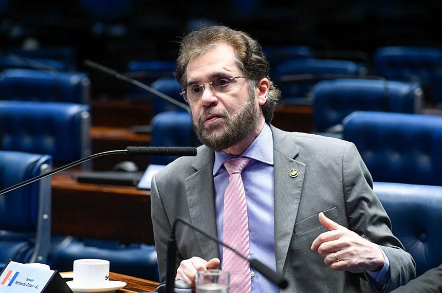 Plenário do Senado Federal durante sessão não deliberativa.   Em pronunciamento, à bancada, senador Plínio Valério (PSDB-AM). Foto: Roque de Sá/Agência Senado