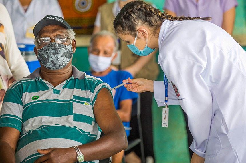 O Governador do Estado de São Paulo João Doria durante a Campanha de Imunização na Comunidade Quilombola Iavaporunduva em Eldorado. Dia:23/01/2021 Local: Eldorado/SP Foto; Governo do Estado de Såo Paulo