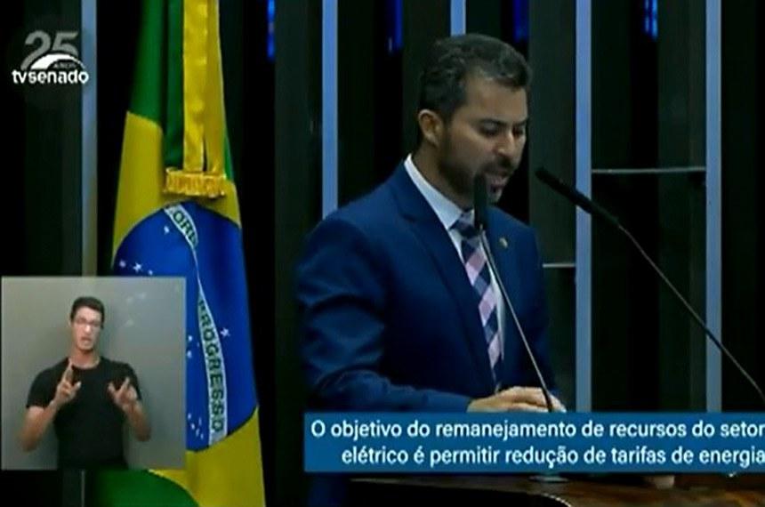 Discurso de Marcos Rogério é acompanhado de tradução simultânea em Língua Brasileira de Sinais (Libras)
