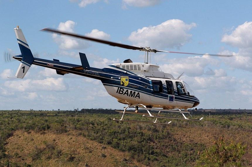 Aeronave do Ibama cai na divisa de MT e MS, piloto morre.  Foto: Ibama