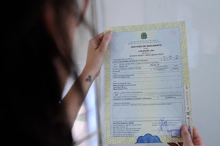Especial Cidadania - Novo modelo de certidão de nascimento está senado emitida com novas regras. Entre as alterações definidas pelo Conselho Nacional de Justiça (CNJ), está a inclusão do CPF, o que facilitará a criação do documento único de identificação. Além.   Foto: Marcos Oliveira/Agência Senado