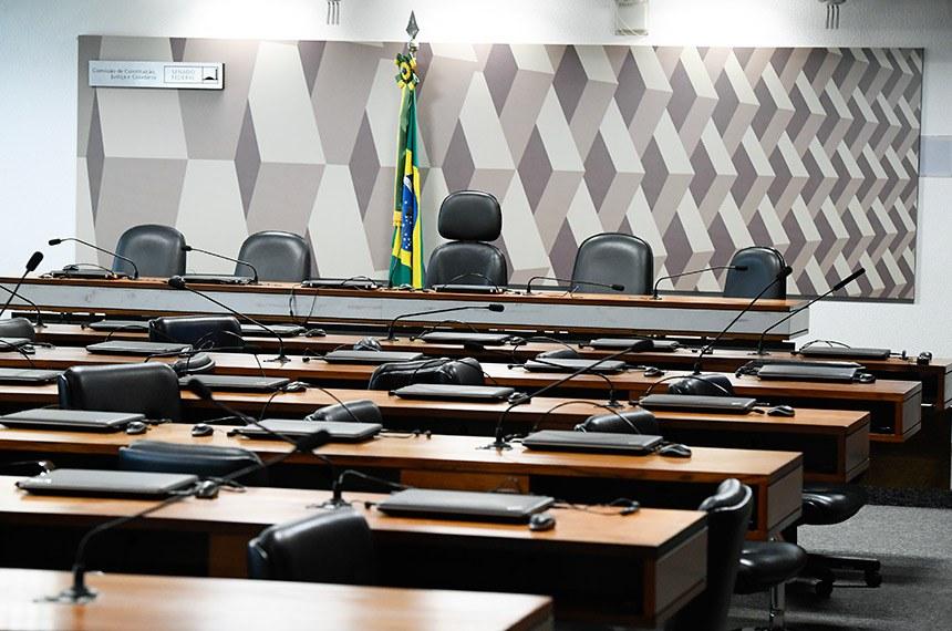 Sala da Comissão de Constituição, Justiça e Cidadania.  Foto: Marcos Oliveira/Agência Senado