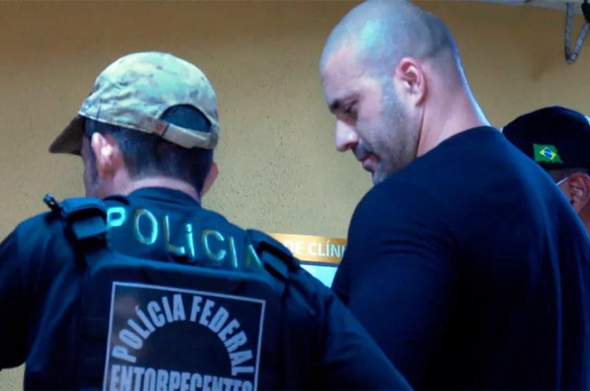 foi preso em flagrante na terça-feira por determinação do ministro do STF Alexandre de Moraes