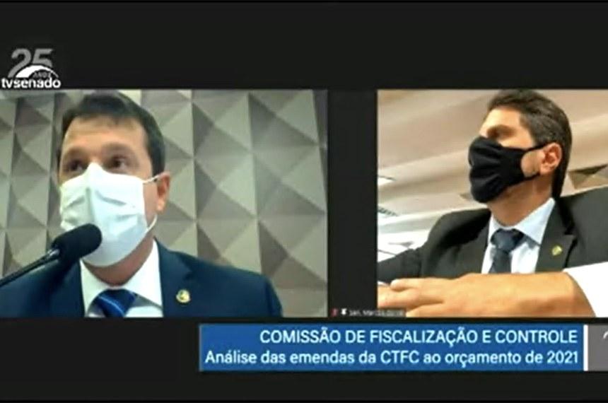 CTFC: apreciação das emendas da comissão ao PLOA 2021.  Foto - Reprodução TV Senado