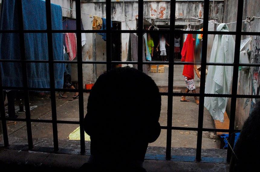 Foto: Marcello Casal Jr./ABr  Data: 13 de Fevereiro de 2008  Planaltina de Goiás (GO) - Cadeia pública onde uma adolescente esteve presa em cela comum, o que é irregular. O local foi visitado nesta quarta-feira (13) por parlamentares da CPI do Sistema Carcerário.