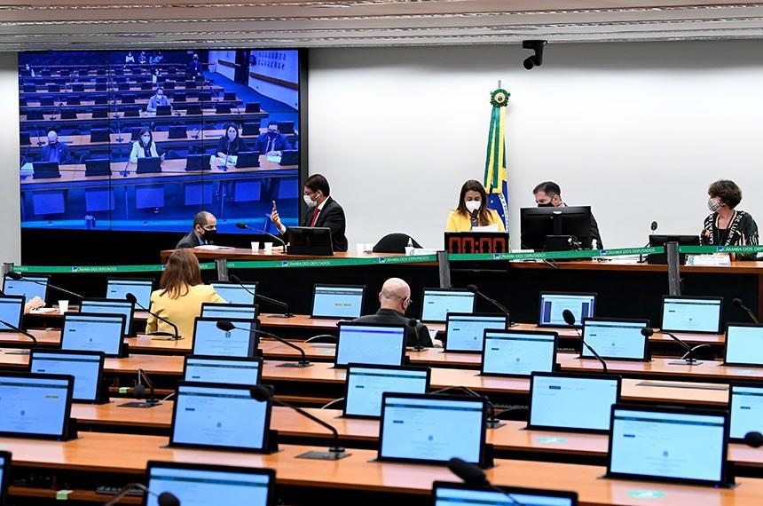 Comissão Mista de Planos, Orçamentos Públicos e Fiscalização (CMO) realiza reunião extraordinária semipresencial para apreciação do relatório do Comitê de Admissibilidade de Emendas (CAE) 1/2020 de relatórios setoriais e vários requerimentos.  Mesa: deputado Claudio Cajado (PP-BA); relator-geral do Projeto de Lei Orçamentária (LOA), senador Marcio Bittar (MDB-AC);  presidente da CMO, deputada Flávia Arruda (PL-DF); secretário da CMO, Walbinson Tavares de Araújo.  Foto: Jefferson Rudy/Agência Senado