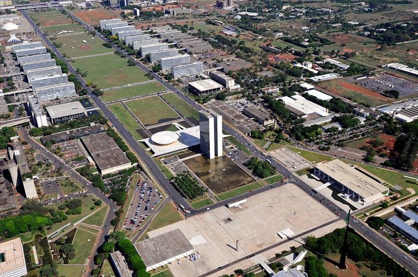 Vista aérea da Esplanada dos Ministérios em Brasília.   Foto: Geraldo Magela/Agência Senado