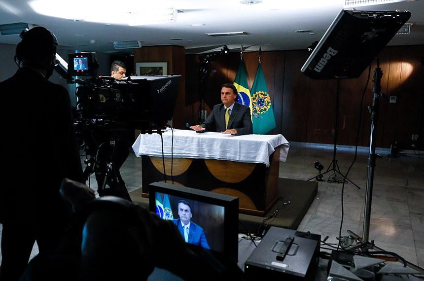 (Brasília-DF, 23/03/2021) Pronunciamento do Presidente da República, Jair Bolsonaro. Foto: Isac Nóbrega/PR