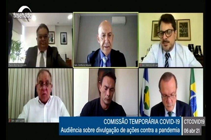 CTCOVID19: audiência com o secretário de Comunicação Social, Flávio Augusto Viana Rocha, para prestar esclarecimentos acerca das ações publicitárias do governo sobre a pandemia.