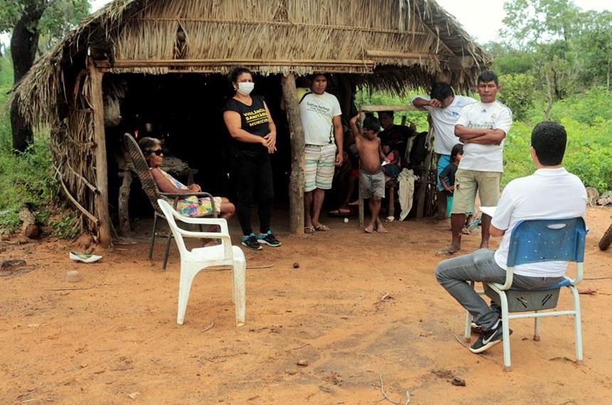 22.04.2020 Equipe de enfrentamento do Covid-19 da Prefeitura de Tocantínia e parceiros levam orientação de prevenção às aldeias indígenas