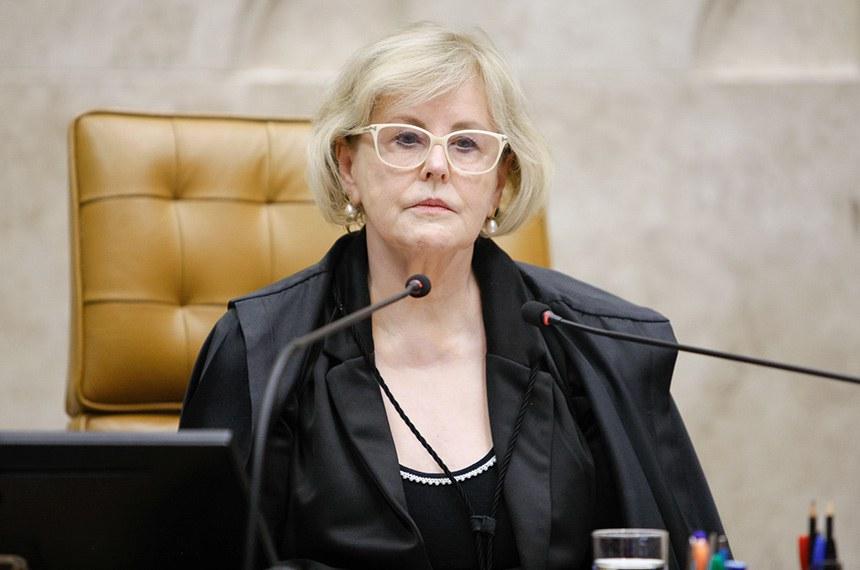 A vice-presidente do STF, a ministra Rosa Weber, preside sessão plenária por videoconferência.  Foto: Felipe Sampaio/SCO/STF