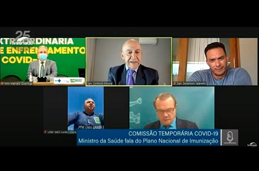 CTCOVID19: audiência com o ministro da Saúde, Marcelo Queiroga, para debater o Plano Nacional de Imunização.