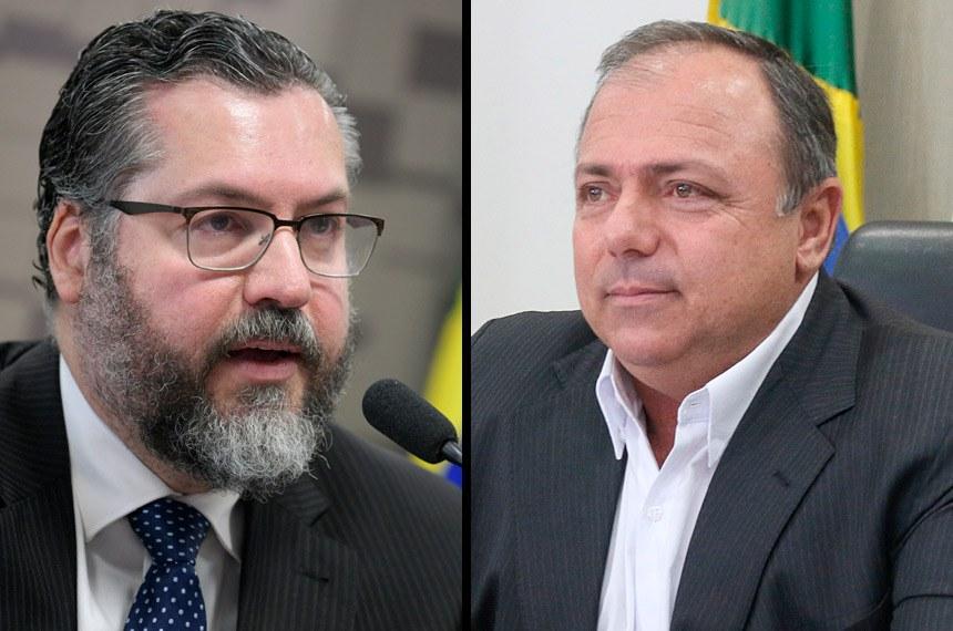 Ernesto Araújo, ex-titular das Relações Exteriores, depõe na terça; Eduardo Pazuello, ex-ministro da Saúde, na quarta