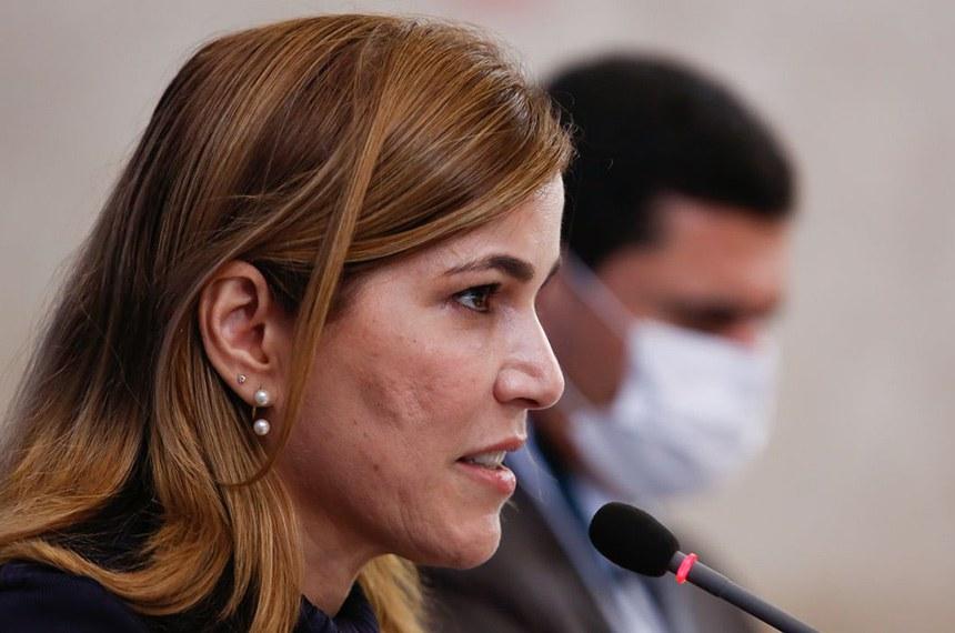 (Brasília - DF, 12/06/2020) Palavras de Mayra Pinheiro, Secretária de Gestão do Trabalho e da Educação na Saúde. Foto: Anderson Riedel/PR