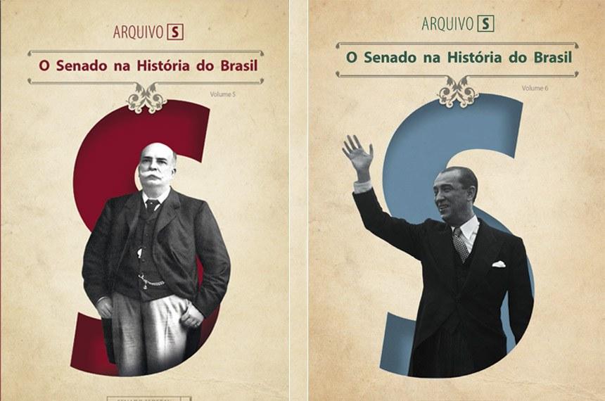 Barão do Rio Branco e presidente Juscelino Kubitschek estão nas nas capas dos novos volumes