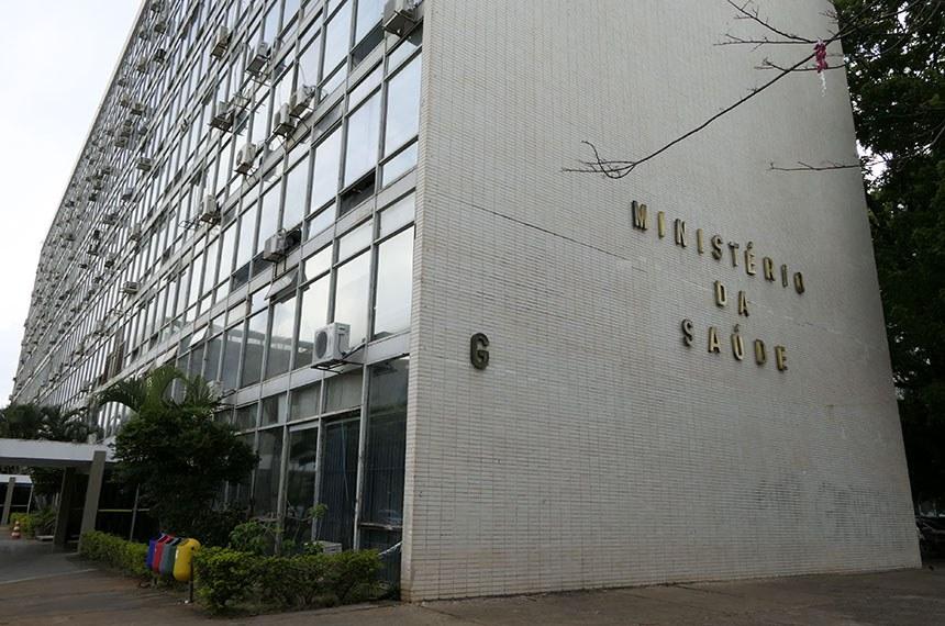 Fachada do bloco G, na Esplanada dos Ministérios, o qual faz parte o Ministério da Saúde.  Foto: Roque de Sá/Agência Senado
