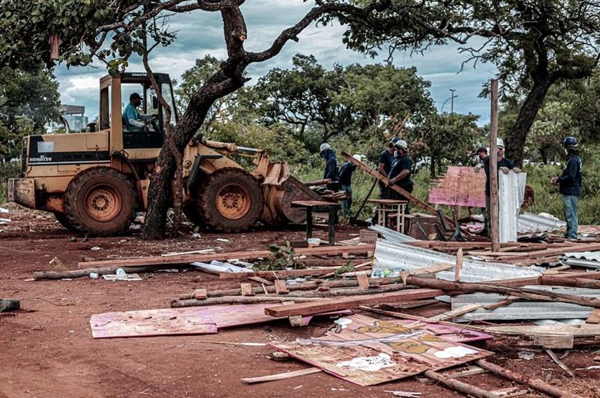 04/2021  Despejo de famílias da ocupação CCBB em Brasília (DF).  Foto: Scarlett Rocha