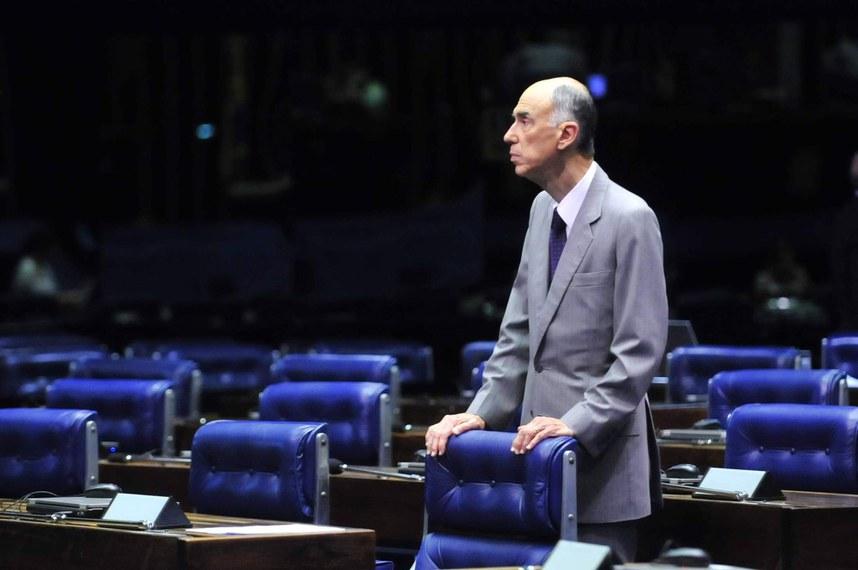 Marco Maciel no Plenário do Senado, durante seu último mandato como senador, que se encerrou em 2011