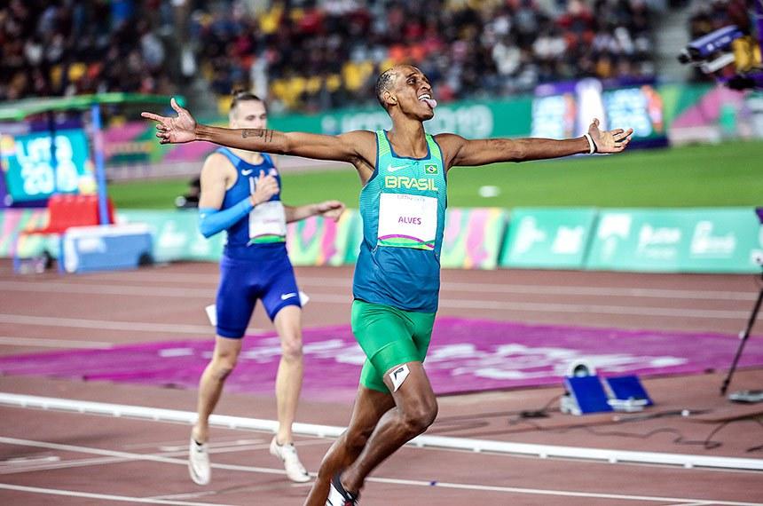 Alison Brendom é ouro nos 400m com barreiras no terceiro dia de disputas do atletismo nos Jogos Pan-Americanos de Lima 2019  Foto: Pedro Ramos/Rededoesporte.gov.br