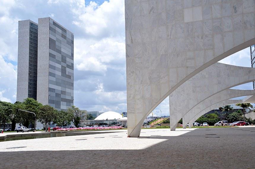 Palácio do Congresso Nacional visto a partir do Palácio do Planalto.  Foto: Cléber Medeiros/Senado Federal