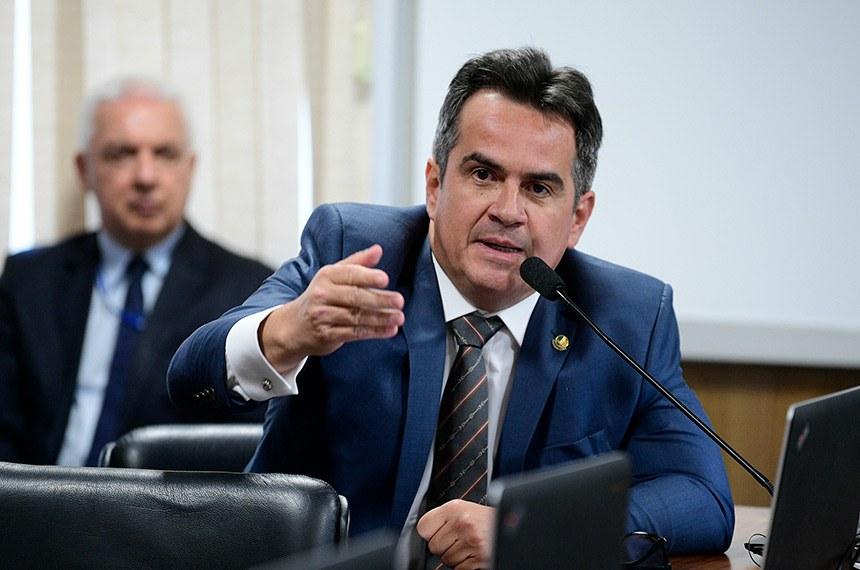 Comissão de Constituição, Justiça e Cidadania (CCJ) realiza reunião deliberativa para análise da PEC 6/2019, que modifica o sistema de previdência social.  Em pronunciamento, senador Ciro Nogueira (PP-PI).  Foto: Pedro França/Agência Senado