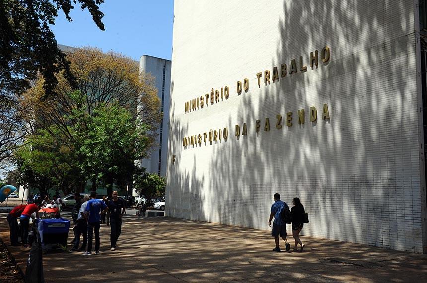 Fachada do Ministério do Trabalho e Emprego (MTE).  Foto: Marcos Oliveira/Agência Senado