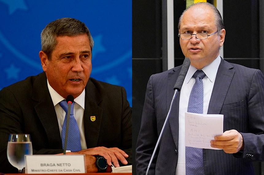 O ministro da Defesa,  Braga Netto e o Deputado Federal Ricardo Barros