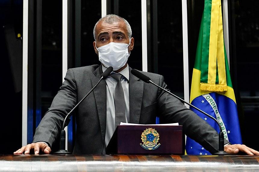 Romário foi o relator da matéria, que promove alterações na Lei Pelé