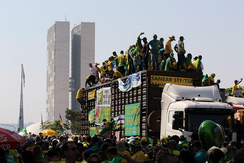 Apoiadores de Jair Bolsonaro vieram de vários estados para a manifestação na Esplanada dos Ministérios