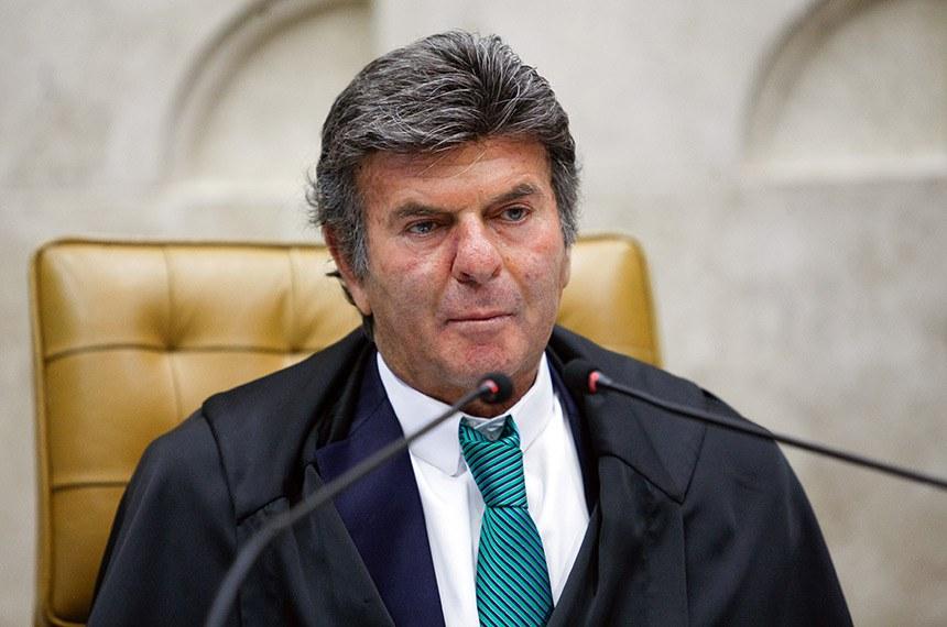 Presidente do STF, Ministro Luiz Fux em sessão realizada por vídeo conferência. Foto: Fellipe Sampaio/SCO/STF