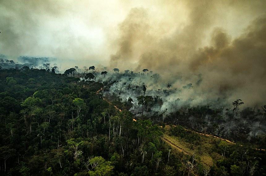 23.08.2019 Queimadas na Amazônia (2019)ALTAMIRA, PARÁ, BRASIL: Imagem aérea de queimadas na cidade de Altamira, Estado do Pará.  O número de focos de incêndio registrados na Amazônia em 2019 é um dos maiores nos últimos anos. De janeiro a 20 de agosto, o número de incêndios na região foi 145% maior que no mesmo período de 2018. O Greenpeace fez um sobrevôo em vários locais da Amazônia para documentar e registrar a extensão da destruição causada por incêndios e desmatamento (Foto: Victor Moriyama / Greenpeace)