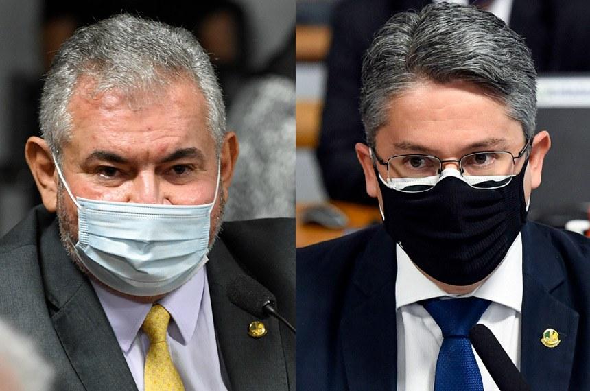 Os senadores Angelo Coronel e Alessandro Vieira querem sustar efeitos da medida provisória