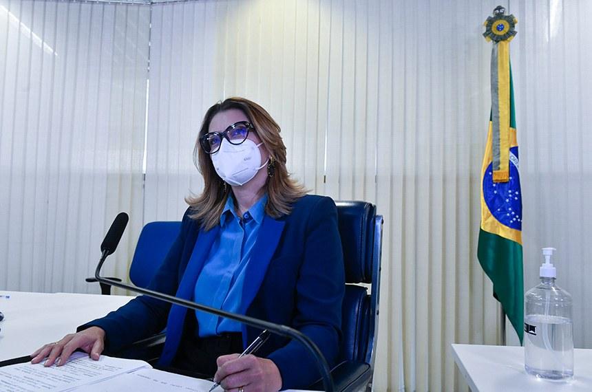 A sessão foi presidida pela senadora Leila Barros (Cidadania-DF), que solicitou a homenagem