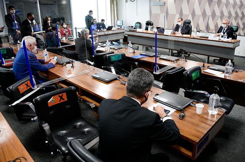 Senadores na reunião da CPI desta quinta, que não teve depoimento