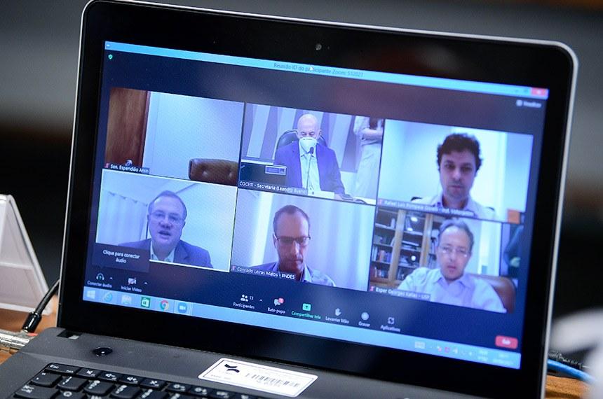 Na reunião remota, senadores discutem com especialistas os resultados do estudo
