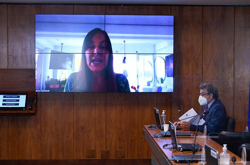 Mara Gabrilli participou da reunião de forma remota para defender aprovação do projeto de autoria dela