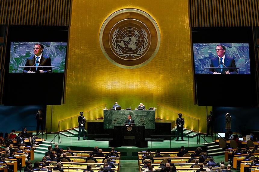 Em discurso na ONU, Bolsonaro defendeu o tratamento precoce da covid-19