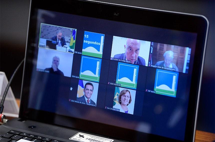 Audiência pública da Comissão Senado do Futuro foi realizada por meio de videoconferência