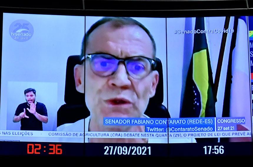 O senador Fabiano Contarato (Rede-ES) defendeu a derrubada do veto, argumentando que o projeto pode fortalecer os municípios do Espírito Santo