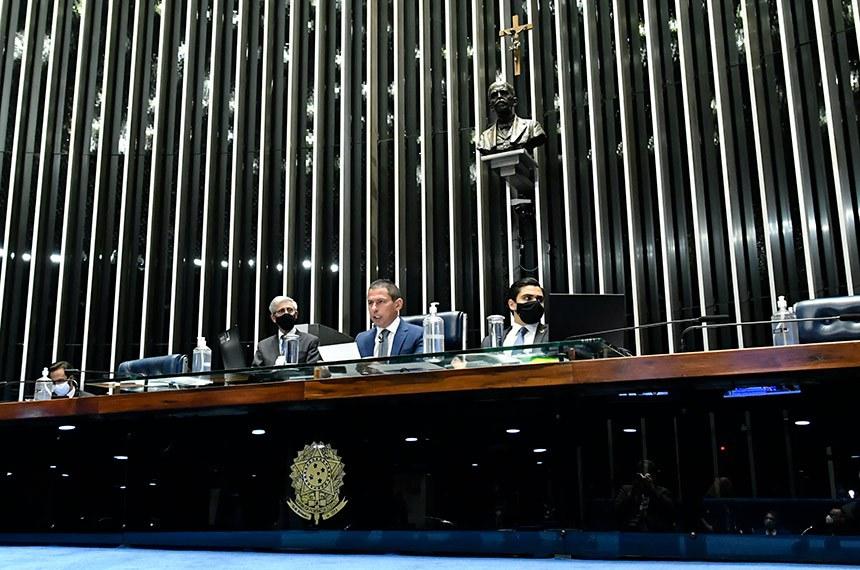 A sessão desta segunda-feira foi conduzida pelo deputado federal Marcelo Ramos