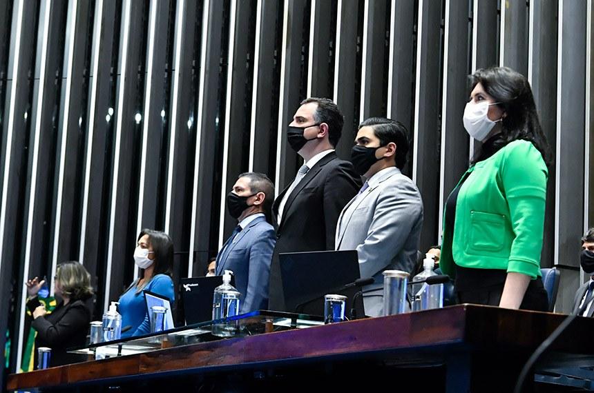 A Emenda Constitucional 111 foi promulgada em sessão solene presidida por Rodrigo Pacheco