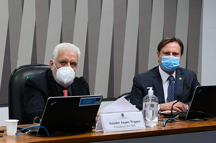 A reunião semipresencial foi requerida pelos senadores Jaques Wagner (PT-BA) e Acir Gurgacz (PDT-RO), presidentes da CMA e da CRA, respectivamente