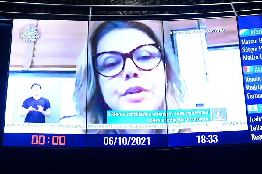 O pedido foi da senadora Leila Barros