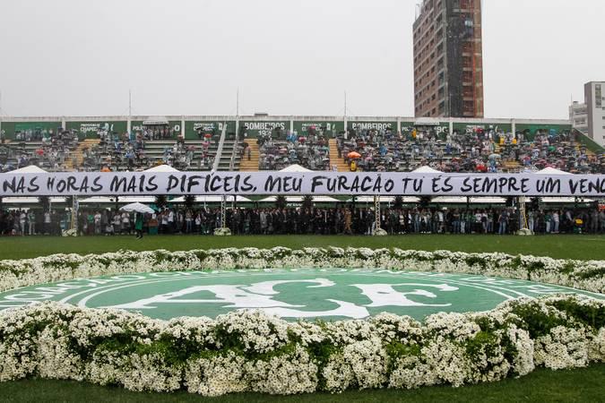 Chapecó - SC -Presidente Michel Temer durante  Cerimônia em Homenagem às Vítimas do Acidente com Avião  da Chapecoense ( Beto Barata/PR)