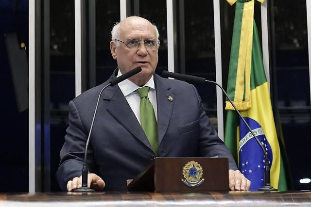 Plenário do Senado Federal durante sessão deliberativa ordinária. \r\rEm discurso, à tribuna, senador Lasier Martins (Podemos-RS).\r\rFoto: Waldemir Barreto/Agência Senado